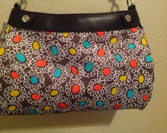 Suite skirt purse cover Michael Miller Wallflower suite purse cover handmade thirty one