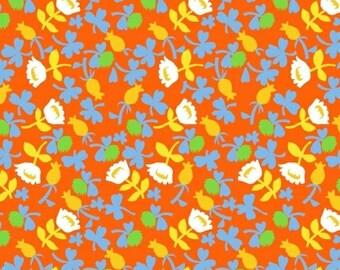 Heather Ross Briar Rose for Windham Fabrics - Calico Orange - FQ Fat Quarter yard cotton quilt fabric 516
