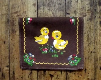 Childrens room baby nursery home decor kitsch linen brown earthy ducks mushrooms floral table center decoration linens Dolly Topsy Etsy UK