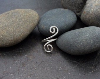 Sterling silver adjustable swirl toe ring
