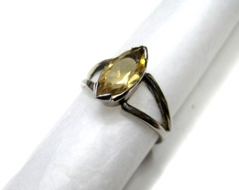 Black Rhodium Plated 925 Sterling Silver Ring studded Faceted Citrine Gemstone Engagement wedding Ring christmas gift party wear jewelry