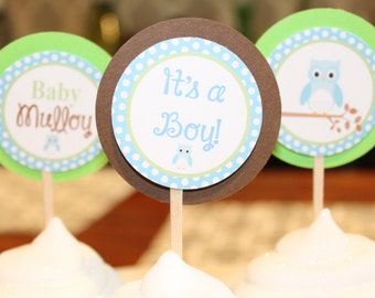 LOOK WHOOO'S .... OWLHappy Birthday or Baby Shower Party Banner - Party Packs Available
