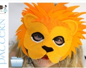 Leo the Lion Mask PDF pattern.  One size fits most children and some adults.  INSTANT DOWNLOAD. - EbonyShae