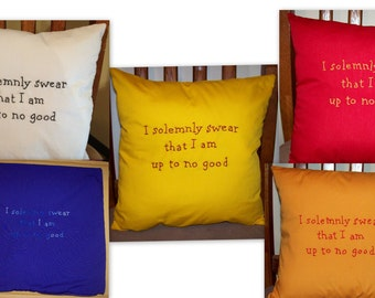Harry Potter Inspired, CUSTOM, I solemnly swear..., Throw Pillow