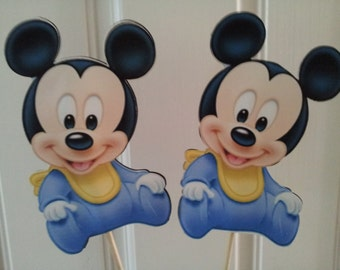 2 Baby Mouse in stick great for centerpieces party decorations