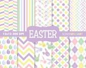 Easter Digital Paper, Spring Digital Paper, Digital Paper, Easter Backgrounds, Easter Digital, Easter Bunny Pattern Clipart SALE
