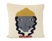Goldilocks Pillow - soft knitted pillow - 16x16, includes insert