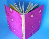 50% DISCOUNT SALE - Now 5 GBP  - Pink Sketchbook Hand Sewn ooak