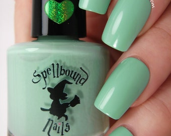 Mint Frappe - Green Mint Creme Nail Polish