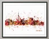Toronto Skyline, Toronto Canada Cityscape Art Print (487)