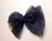 Lacey black bow