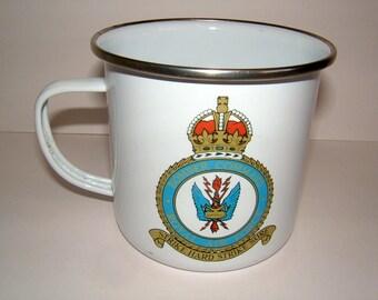 RAF Bomber Command Memorial and Maintenance Appeal Enamel Mug Vintage Royal Air Force Vintage Military WWII Mug Vintage RAF