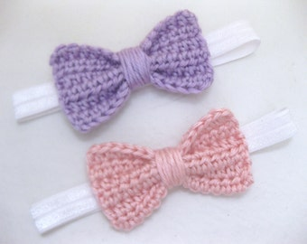 Baby Girl Headband, Flower Headband, Crochet, Newborn, Photo Prop, Newborn Photos, Hair Accessory