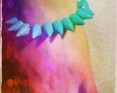 Turquoise tacks stones native bracelet