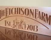 Personalized Farm Sign, Custom Anniversary Sign, Personalized Ranch Sign, Benchmark Custom Signs Cherry JF