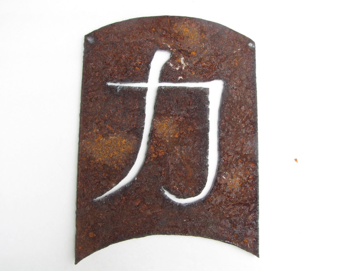 Strength Energy Kanji, Asian Symbol Garden Art Home Decor Recycled Metal Wall Art