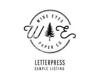 Letterpress Sample Listing / Wood Engraved Sample