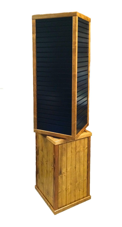 Freestanding 5 Floor Display 4 Sided Rotating Wood