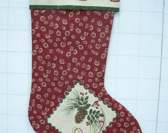 Quilted Chrismas Stocking