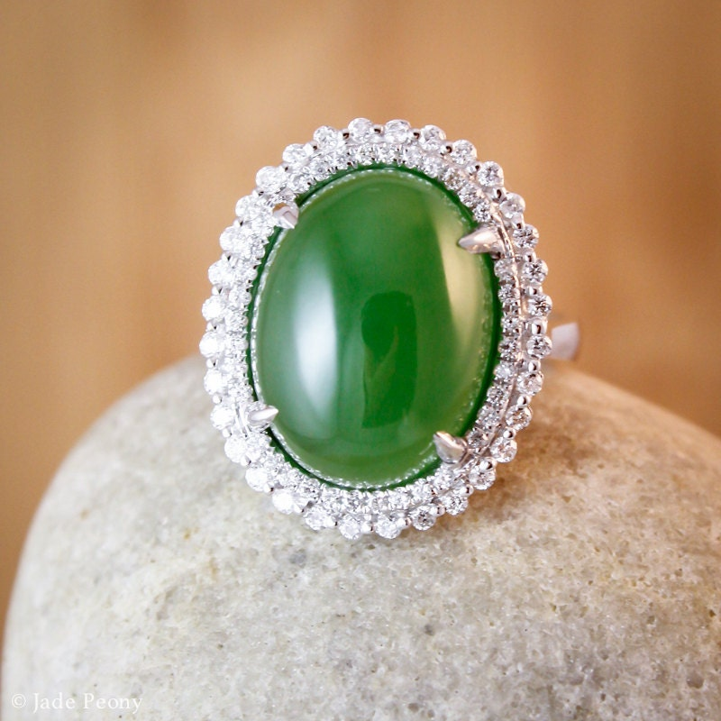 heirloom aaa grade nephrite jade ring engagement