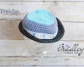 Newborn Fedora Hat-Bradley Fedora-Summer-Baby Photo Prop