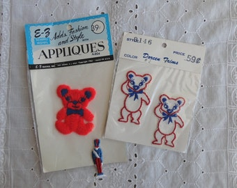 Vintage Appliques Teddy Bears and Soldier Cute for Kid's Clothing or Crafts
