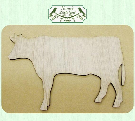 Vache Medium bois découpe Laser Coupe du bois # Animaux En Bois Découpé