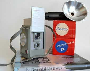 Vintage Ansco Camera. Original Instagram, Square Photos.Twin-lens reflex camera TLR. Ansco Flex 2. Perfect for Home Decor & Photography Art