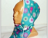 Children hooded scarf patterned with fleece