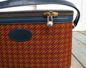 Vintage Lark Train Case Luggage Carry On Suitcase
