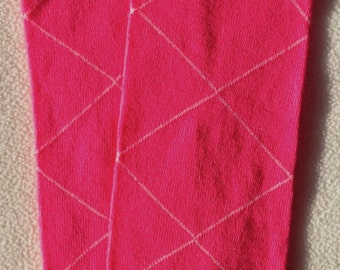 Hot Pink Argyle Baby Legs /  Valentines Day Leg Warmers- Free Domestic Shipping