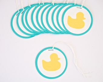 Baby Shower Decoration Rubber Duck Tags