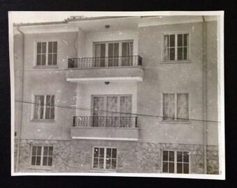 Original Antique Photograph Balconies & Windows