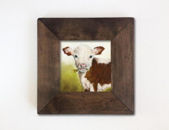 Cow Nursery Art Print Farm Animal Kids Wall Art Rustic