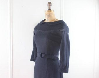 vintage 1950s Black Bombshell Dress