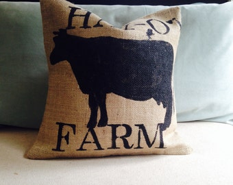 Burlap pillow cover Farm house style