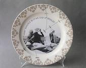 Decorative Altered Art Plate Mixed Media