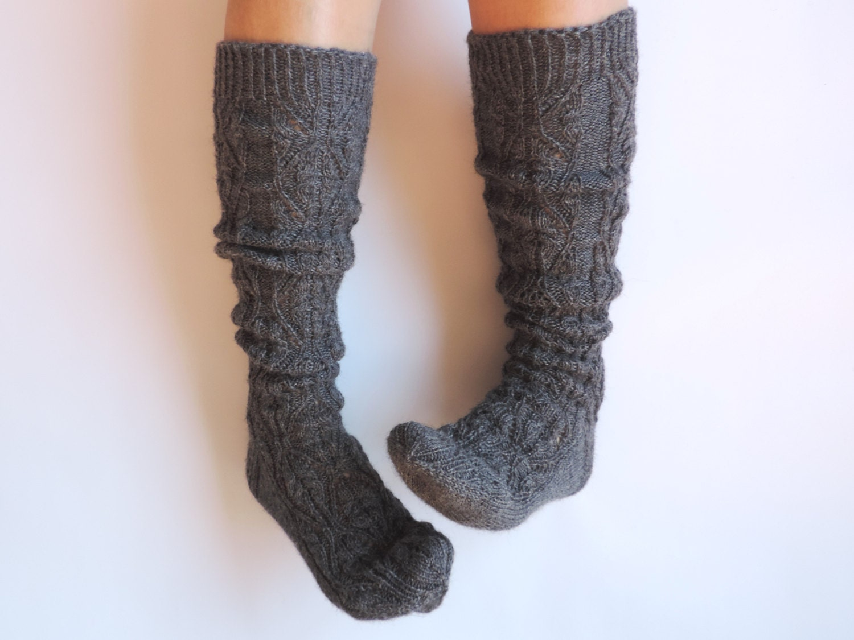 grey boot socks grey knee high socks by