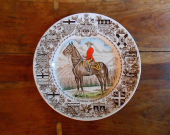 Royal Mounted Police Plate Canadian English Ironstone Wood & Sons