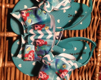 Little Mermaid Princess Ariel Toddler Flip Flops