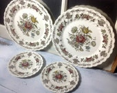 English Transferware Myotts Bouquet England Plates