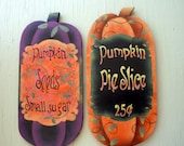 Autumn decor, Hand painted home wall hanging, fall Pumpkin harvest decoration