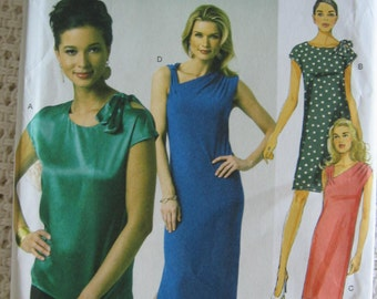 Butterick  Misses Womens Top and Dress Sewing Pattern B5784 UC Uncut FF Size 4 6 8 10 12 14