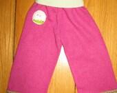 Upcycled Cashmere Longies / Pants - Mary had a Little Lamb - Size 6 - 12 Months