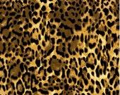 Animal print - cotton - fabric - BTY - wild - new - black - brown - stripe - tiger - leopard