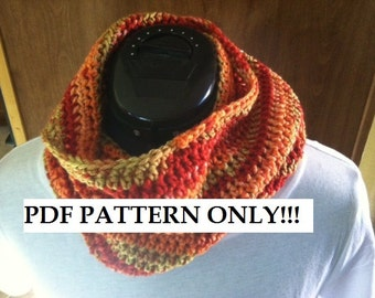 PDF PATTERN - For crochet Fun Easy Cowl Pattern for cold winters
