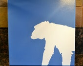 MONKEY Painting on Canvas in Silhouette
