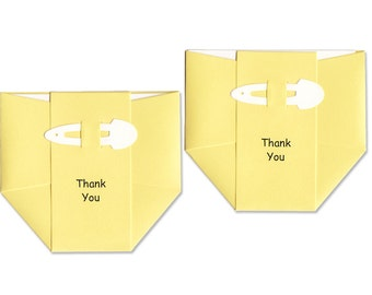 Baby Thank-You Cards - Yellow Diaper Thank you Notes - Gender Neutral Baby Shower Cards