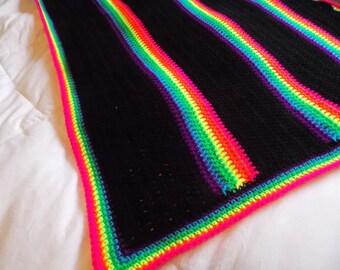 Neon Rainbow Baby Blanket