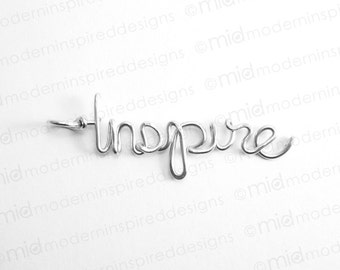 Inspire Necklace - Christian Jewelry - Faith Jewelry - Inspire - Christian Gift - Teacher Gift - Motivational Gift - Inspirational Jewelry